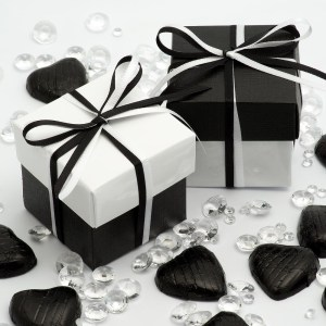 Black Favour Boxes