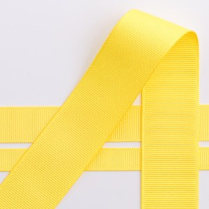10mm Yellow Grosgrain Ribbon 10M