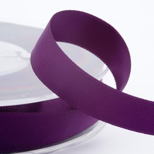 3mm Aubergine Satin Ribbon 50M