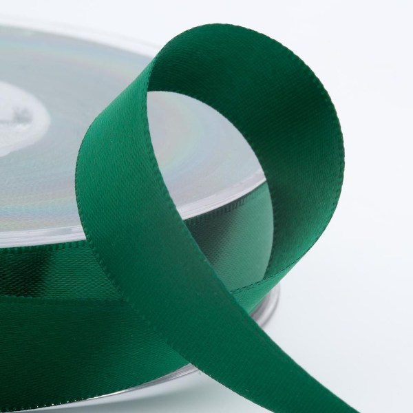 3mm Bottle Green Satin Ribbon 50M