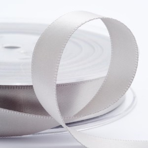 3mm Silver Satin Ribbon 50M