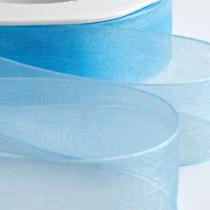 7mm Blue Organza Ribbon 50M