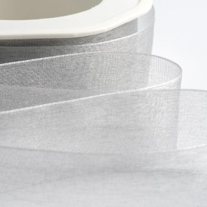 7mm Silver Organza Ribbon 50M