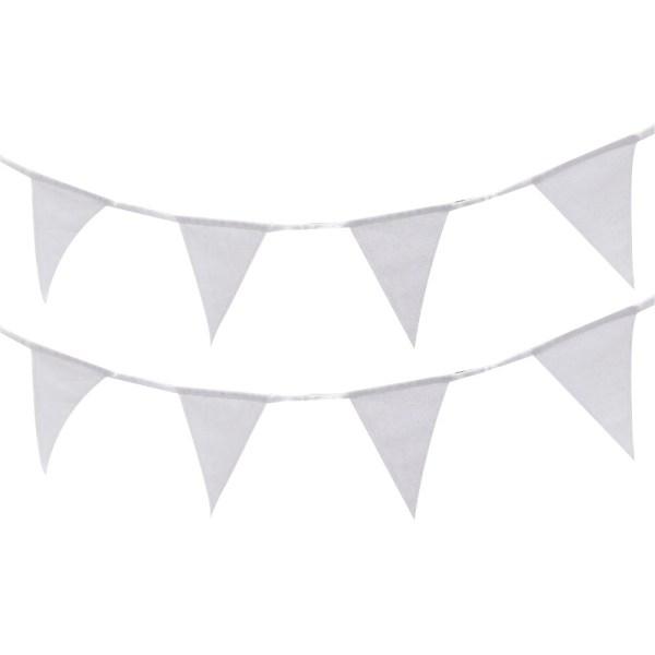 White Fabric Bunting