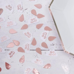 Rose Gold & Clouds Table Confetti