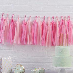 Pink Hanging Tassel Garland Kit
