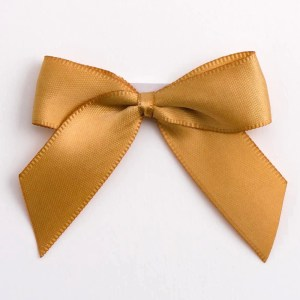 Antique Gold Satin Bows 12 Pack