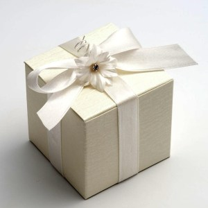 Ardesia Ivory Cube Favour Box
