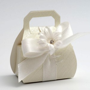 Ardesia Ivory Handbag Favour Box