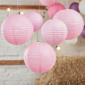 Baby Pink Paper Lantern Decorations