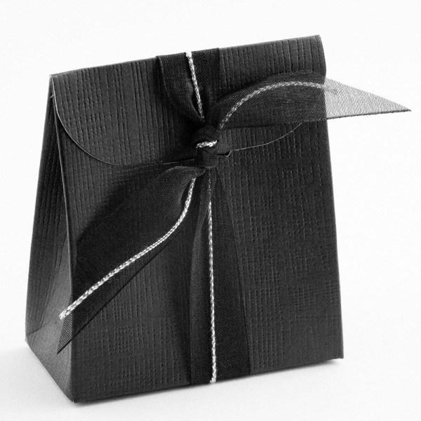 Black Silk Sacchetto Favour Box