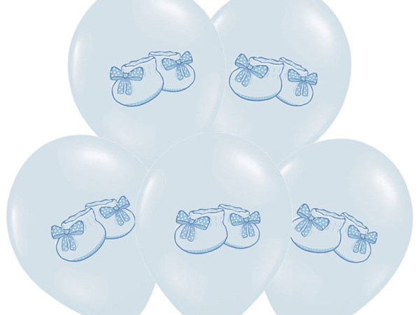 Blue Bootee Baby Shower Balloons