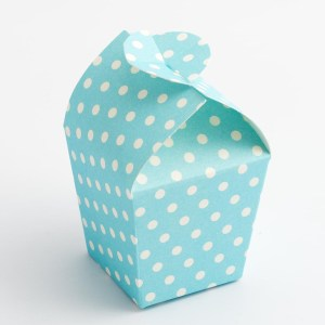 Blue Polka Dot Mini Favour Box