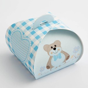 Blue Teddy Bear Tortina Favour Box - Large