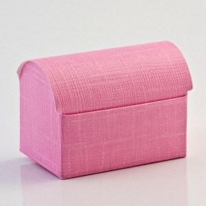 Bright Pink Silk Cofanetto Favour Box