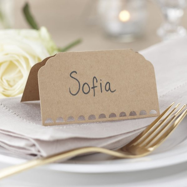 Brown Kraft Place Cards