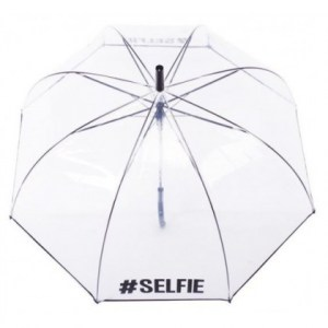 Clear #Selfie Umbrella