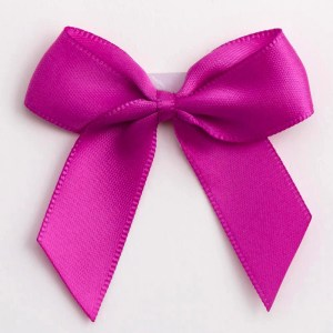 Clover Pink Satin Bows 12 Pack