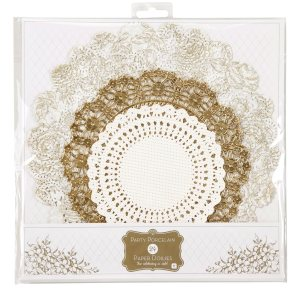 Gold Metallic Doilies