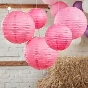 Hot Pink Paper Lantern Decorations
