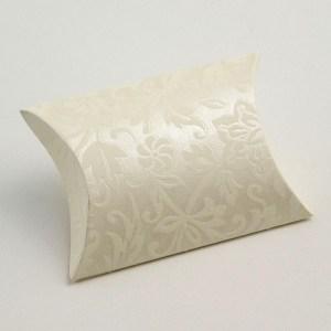 Ivory Diamante Pillow Favour Box
