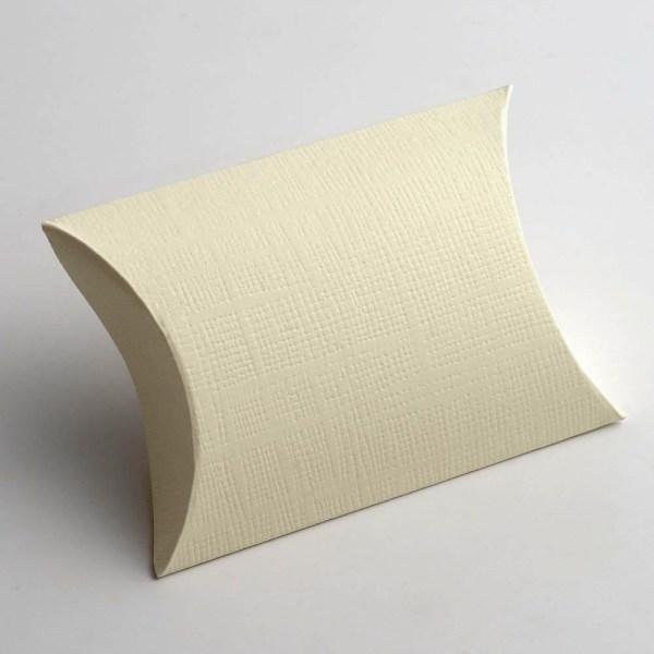 Ivory Silk Pillow Favour Box