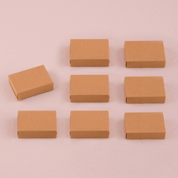 Kraft Matchbox Favour Boxes x 8