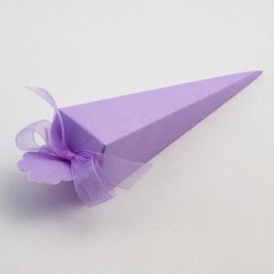 Lilac Silk Cone Favour Box