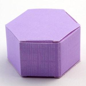 Lilac Silk Hexagonal Favour Box