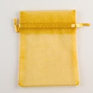 Medium Gold Organza Favour Bag