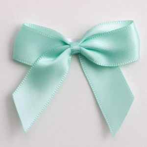 Mint Green Satin Bows 12 Pack