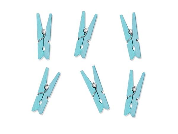 Pale Blue Mini Wooden Pegs