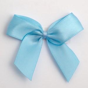 Pale Blue Satin Bows 12 Pack