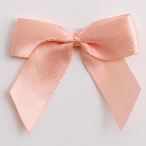 Peach Satin Bows 12 Pack