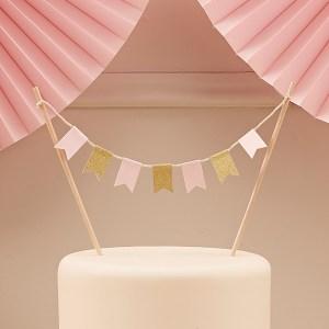 Pink & Gold Cake Bunting