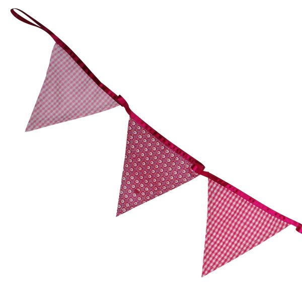 Pink Fabric Bunting