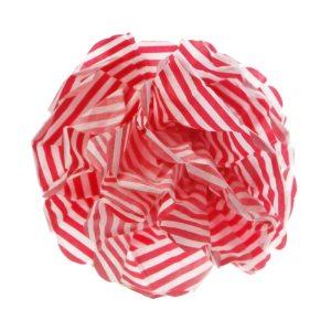 Red Candy Stripe Pom Pom