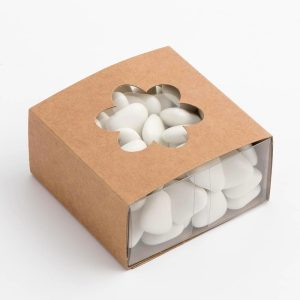Rustic Kraft Flower Sleeve with Transparent Favour Box
