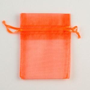 Small Orange Organza Favour Bag