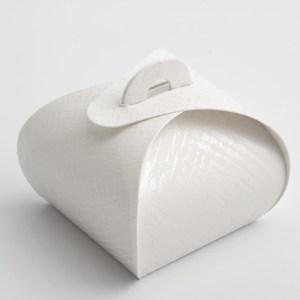 White Linen Tortina Favour Box