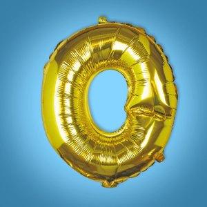 Gold Foil Letter 'O' Balloon