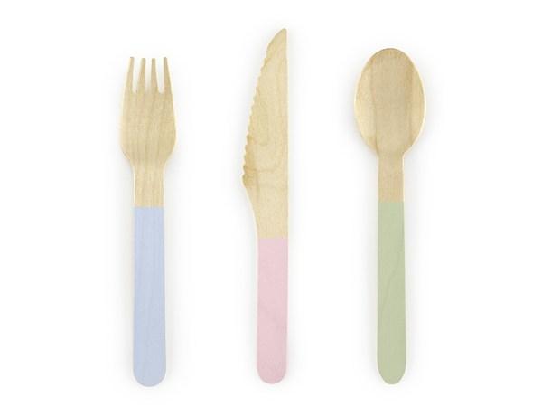 Pastel Wooden Cutlery