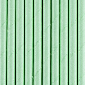 Solid Mint Green Paper Straws