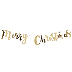 Gold Merry Christmas Bunting