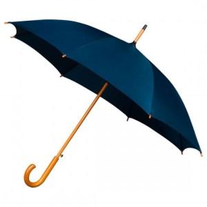 Wooden Stick Umbrella - Navy Blue