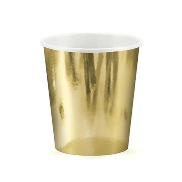 Solid Metallic Gold Paper Cups