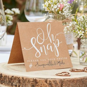 Rustic Kraft Instagram Table Signs