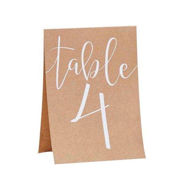 Rustic Table Numbers Tent Cards 1-12