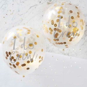 I Do Gold Confetti Balloons