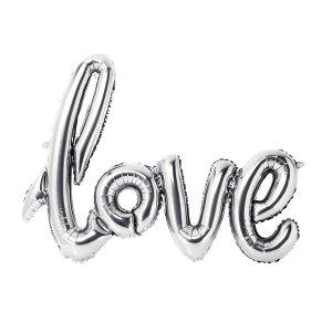 Silver Love Balloon